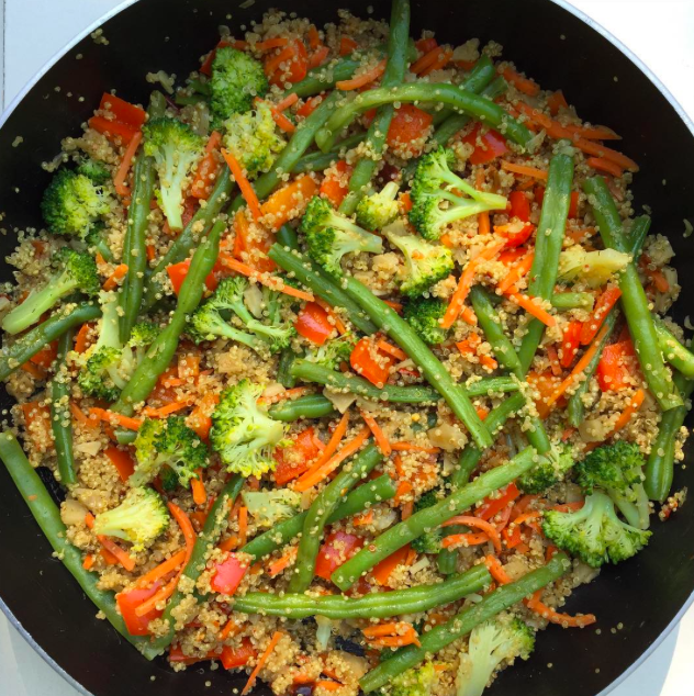 Stir Fry Vegetables & Quinoa | The January Glow
