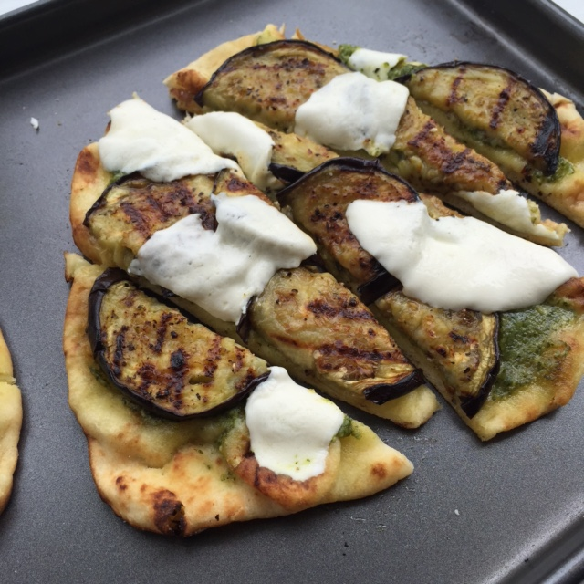Grilled Eggplant Naan