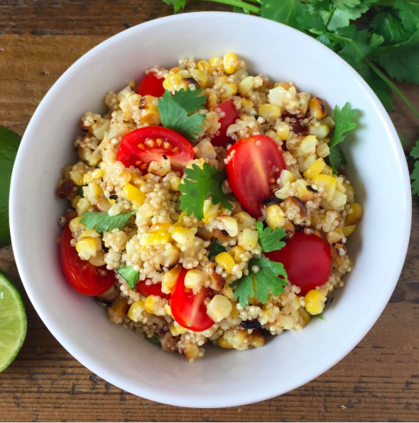 Grilled Corn Quinoa Salad from @simplyquinoa