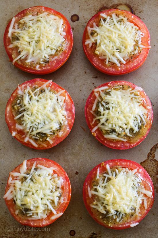 Baked Pesto-Parmesan Tomatoes